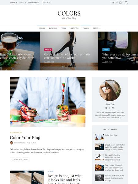 colors 30 Newsworthy Magazine WordPress Themes for Blogs & Magazines