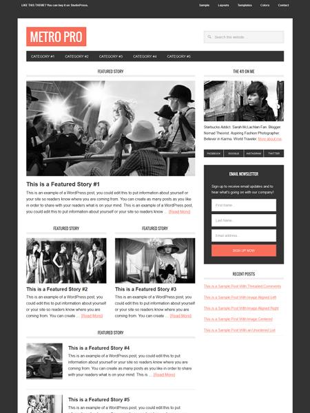 metro 30 Newsworthy Magazine WordPress Themes for Blogs & Magazines