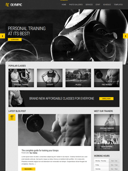 olympic 11 Powerful Sports & Fitness WordPress Themes for 2017