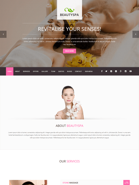 spa 22 of the best Yoga & Fitness WordPress Themes for 2017