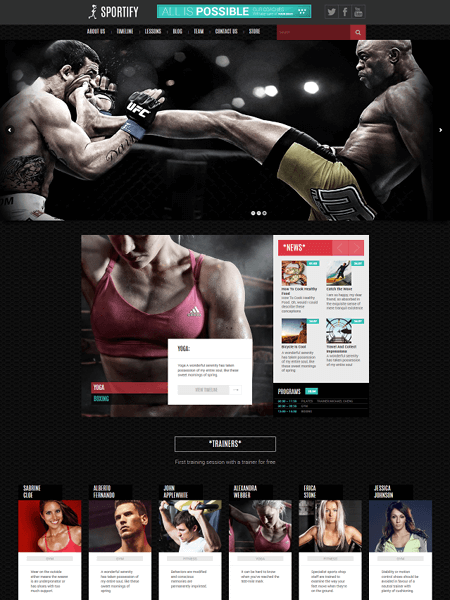 sportify 11 Powerful Sports & Fitness WordPress Themes for 2017