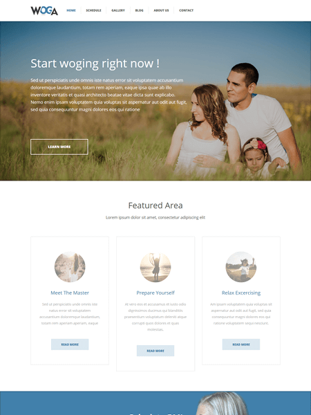 woga 22 of the best Yoga & Fitness WordPress Themes for 2017