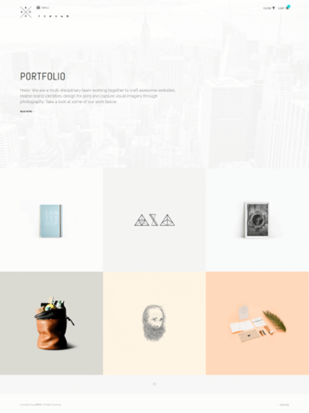 roua 18 Best Minimalist WordPress Themes For Business, Portfolio, and Blogs