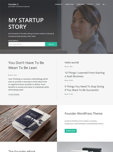 tf-founder 12 Best Marketing WordPress Themes for Bloggers & Small Business Owners