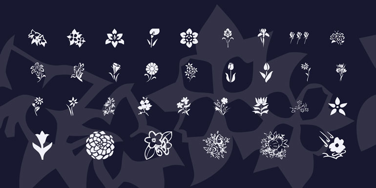 blossoms 25 Free Tattoo Fonts with Style