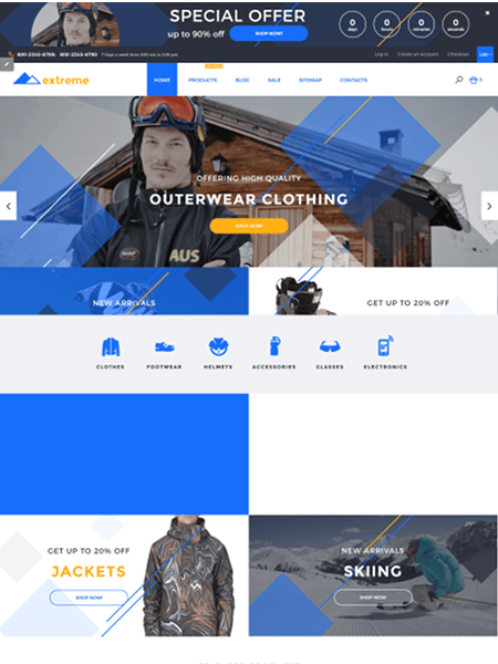 extreme 15 Top Shopify Themes for Your Online Store