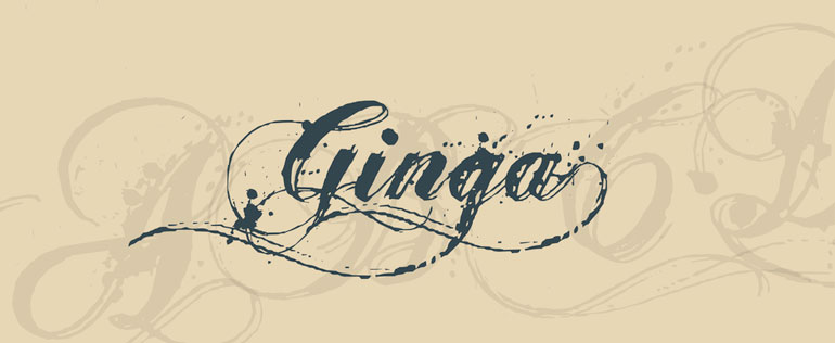 ginga 25 Free Tattoo Fonts with Style