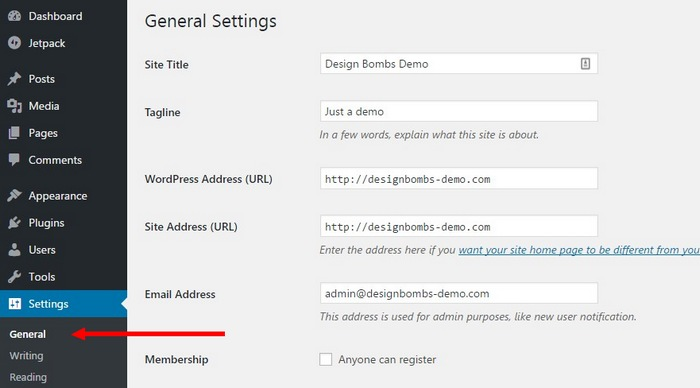 setting-up-site-step-1 How To Make A Website with WordPress – The Ultimate Guide