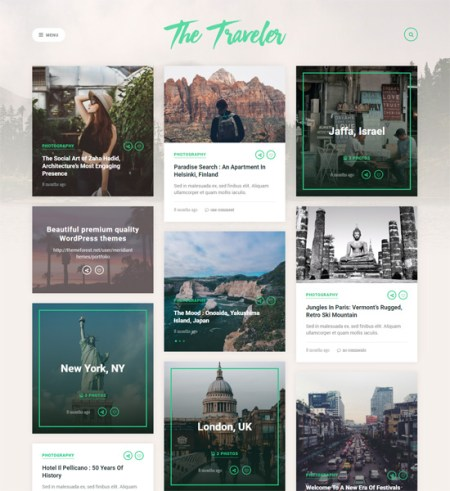 traveler 8 Best Clean WordPress Themes For Blogging & Personal Websites