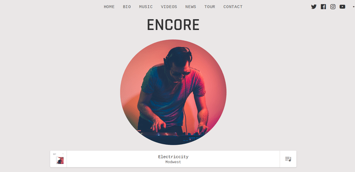 Encore 13 of the Beautiful WordPress Themes for Musicians & Artists