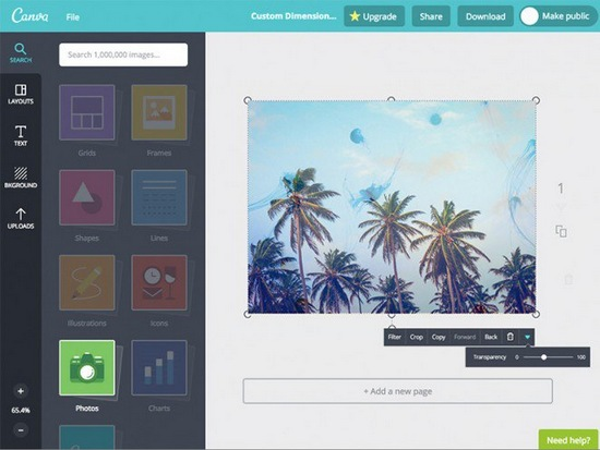 canva-editor 8 Best Web-Based Photo Editors For Online Marketers