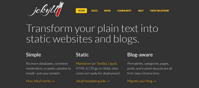 jekyll Top 15 Blogging Platforms – A Detailed Comparison