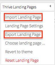 2g-tlp-import-export Thrive Content Builder and Landing Pages Review