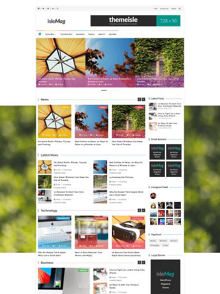 isle-mag 16+ Best AdSense Optimized WordPress Themes