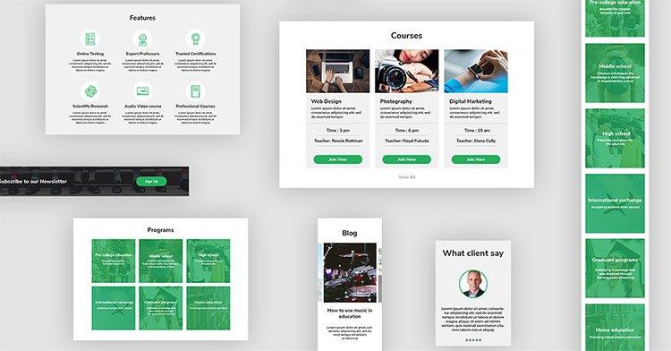 10-freebie-ui-kit-education 22 Incredible Adobe XD Freebies For UI Designers