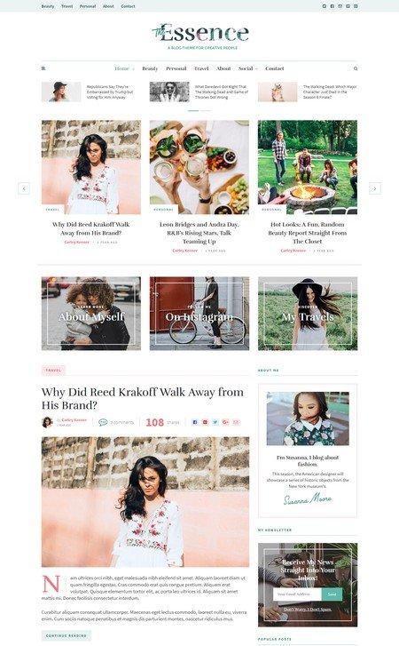 essence 16+ Best AdSense Optimized WordPress Themes
