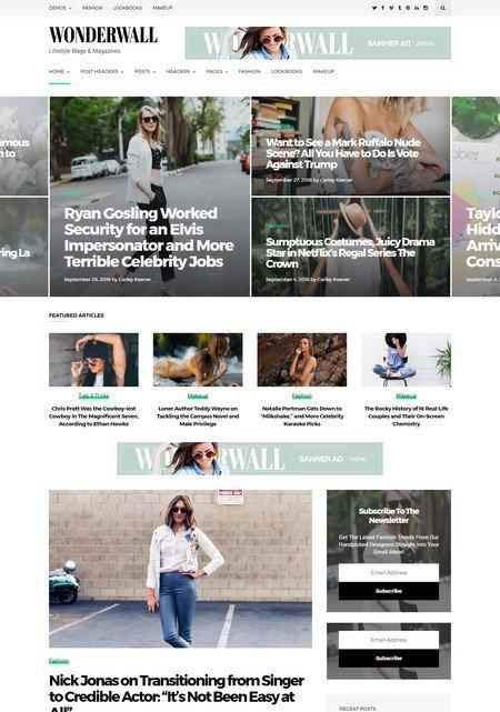 wonderwall 16+ Best AdSense Optimized WordPress Themes
