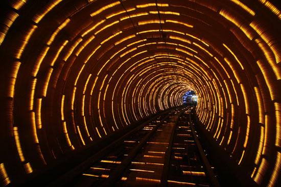 Shanghai bund sightseeing tunnel, China