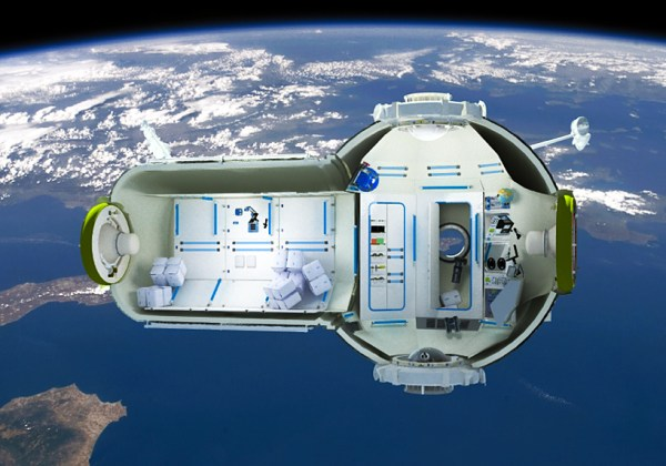 commercial space station hotel