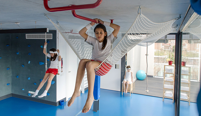 Playoffice Inserts Childrens Indoor Climbing Gym Into Home