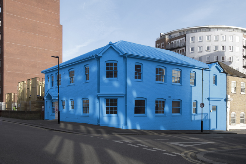 Defunct Council Office Turned Into The Blue House Yard In
