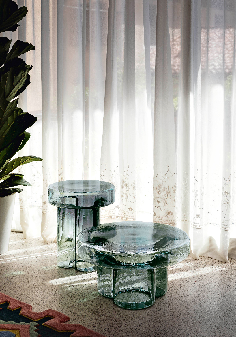 blown glass coffee tables form the