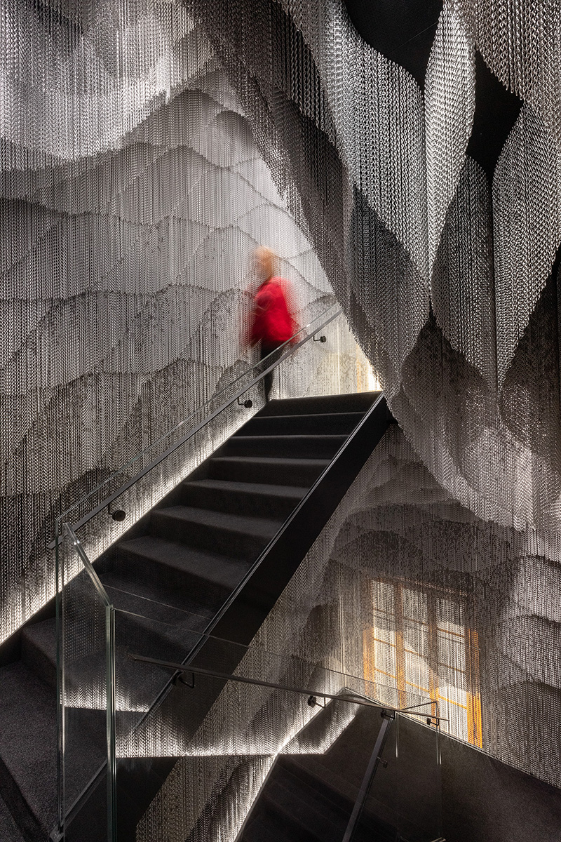All news and projects related to staircases. Kengo Kuma Installs Chain Clad Staircase Inside Gaudi S Casa Batllo