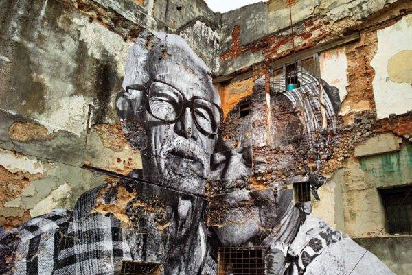 JR and josé parlá's book: wrinkles of the city, havana, cuba
