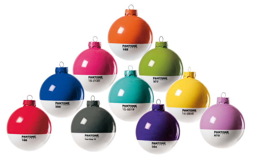 pantone christmas baubles by studio badini createam for seletti