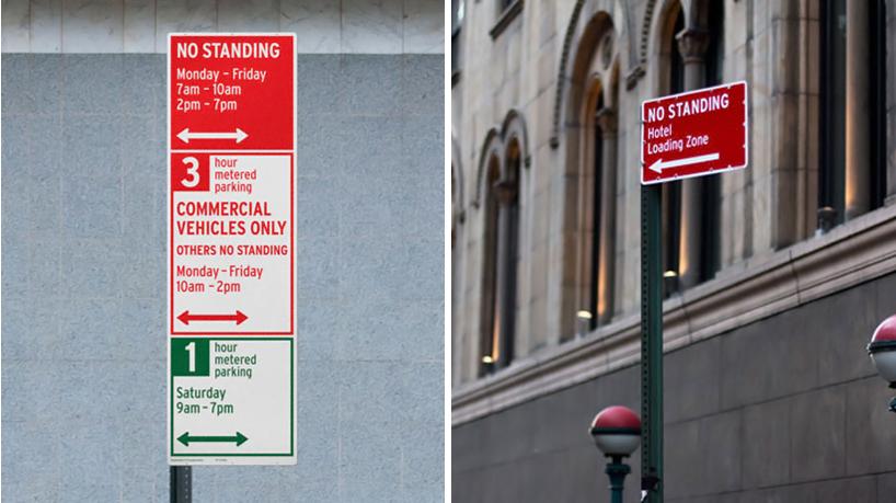 Pentagram New York Citys Redesigned Parking Signs