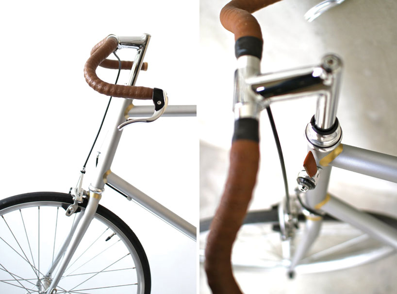 afteroom bikes with golden brass welds by afteroom :: via designboom