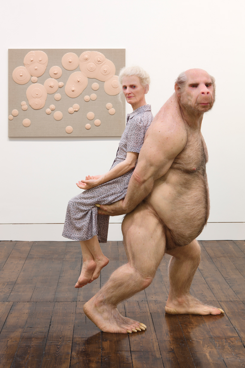 the carrier   a hyper real sculpture by patricia piccinini