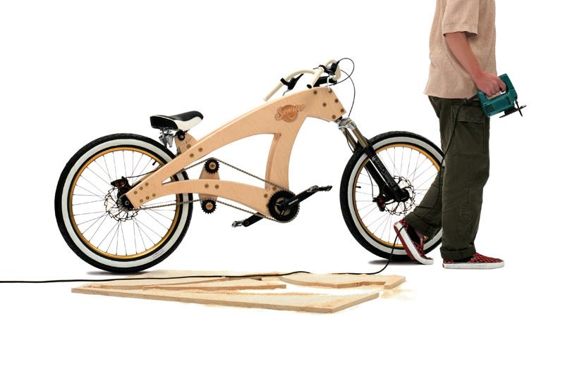 Lowrider Wooden Beach Cruiser Bicycle by Jurgen Kuipers :: via designboom