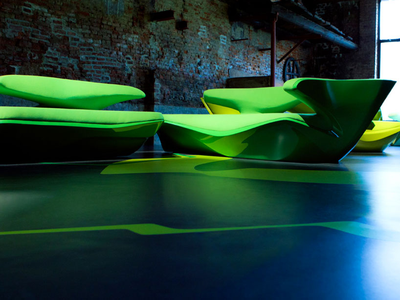 Zaha Hadid Zephyr Sofa For Cassina
