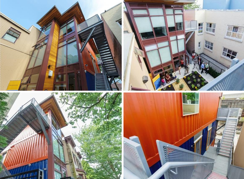 Vancouvers Low Income Housing Made Of Recycled Shipping