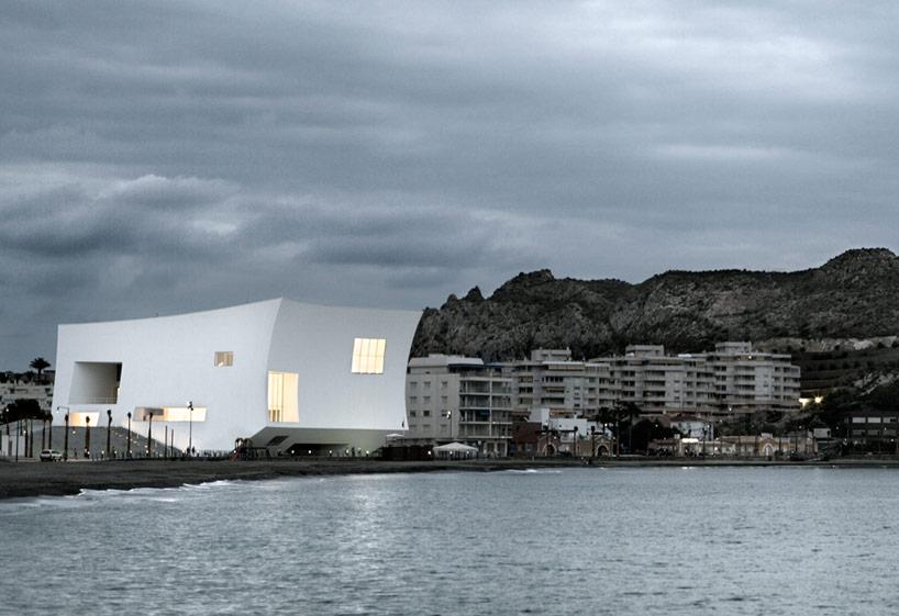 Barozzi Veiga Completes White Auditorium In Aguilas Spain