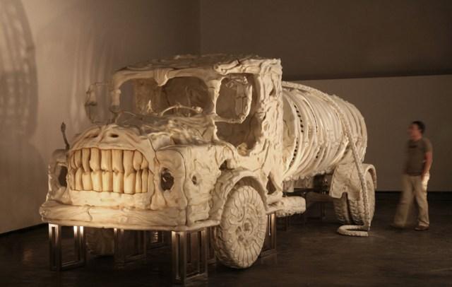 bone vehicles by jitish kallat designboom 11
