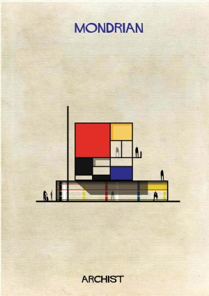 federico babina imagines famous art as architectural spaces