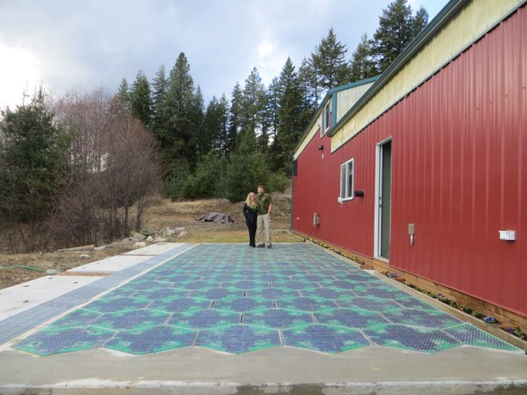 solar powered roadways by scott brusaw come to life with LED's