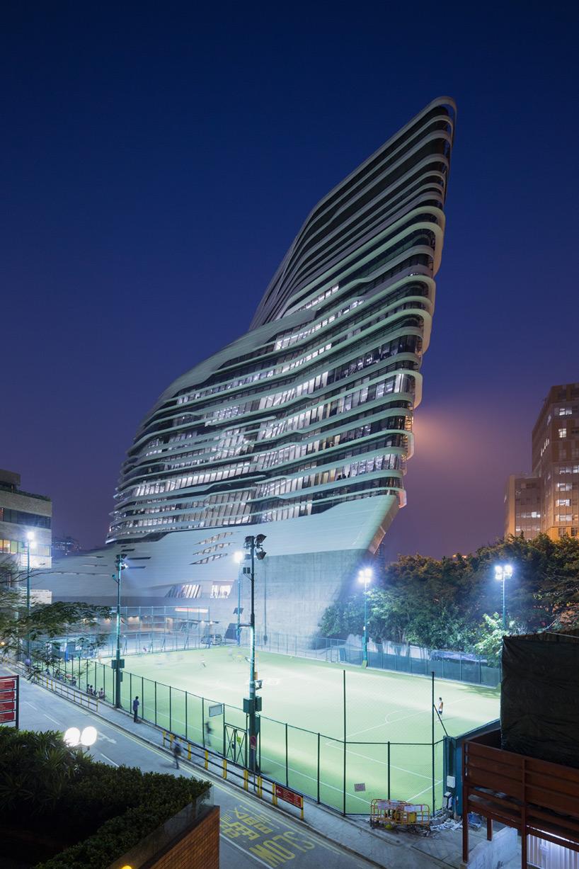 Iwan Baan Documents Zaha Hadid S Jockey Club Innovation Tower
