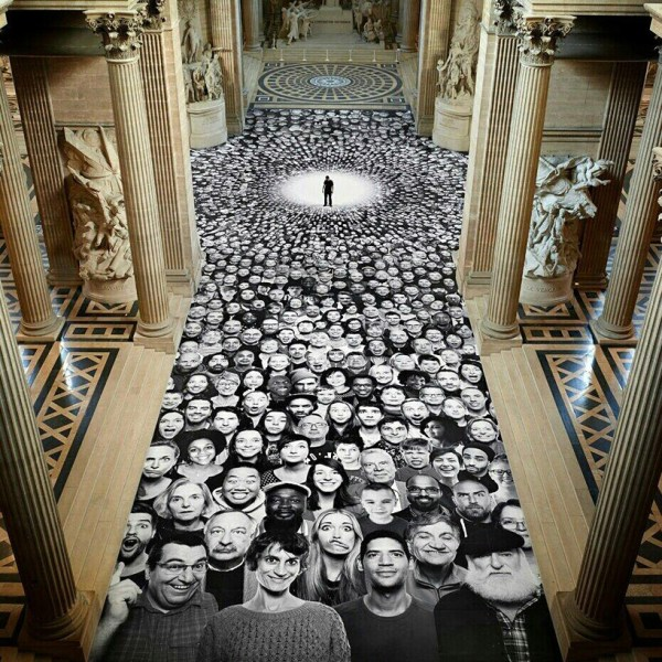 JR canvasses paris' pantheon with portraits from around ...