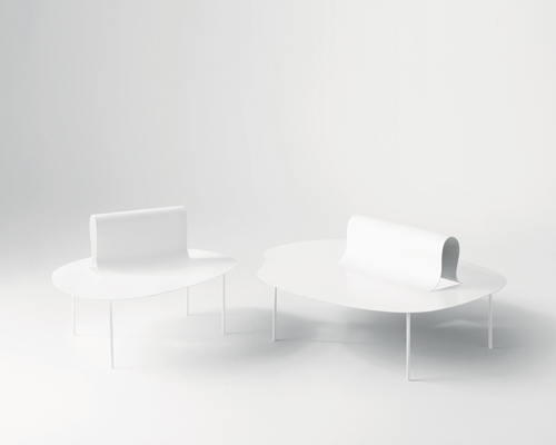 Desaltos Softer Than Steel Furniture Collection By Nendo Delicately Folds Like Paper