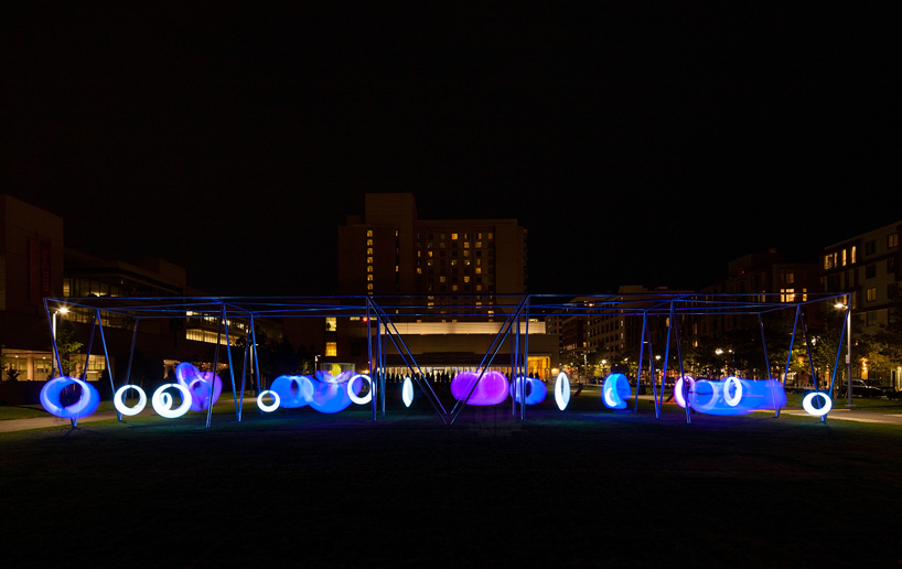 Hweler Yoons Swing Time Illuminates Boston Park