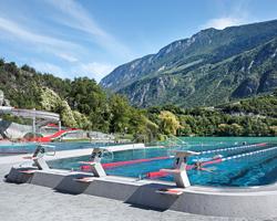 NAU architecture renovates baths of géronde in switzerland