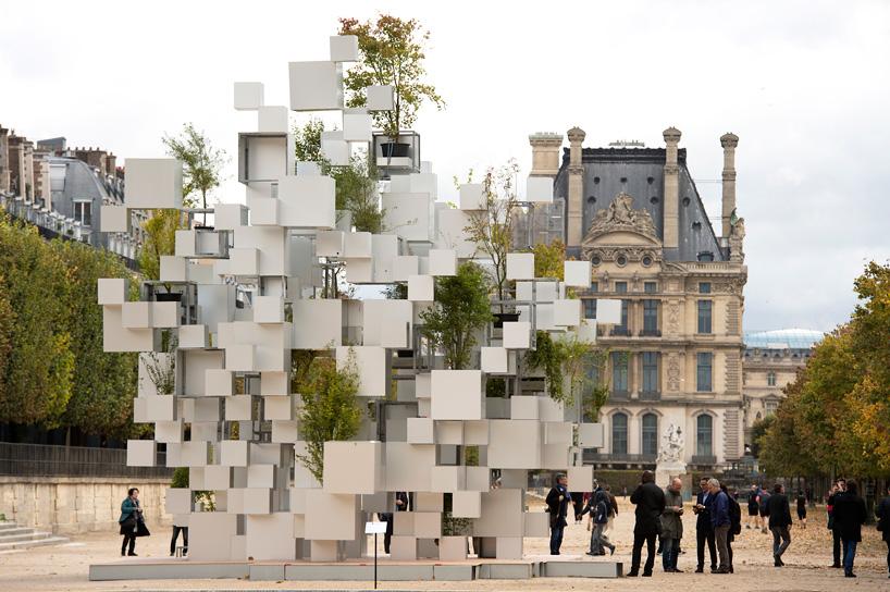 Sou Fujimoto Adds Greenery To Layered Cube Installation In