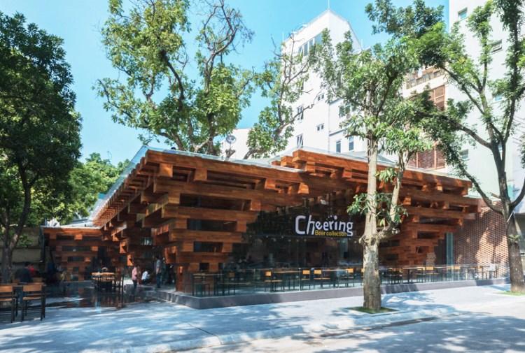 HP architects cheering restaurant designboom02