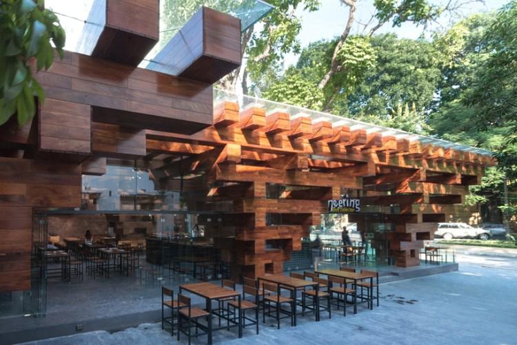 HP architects cheering restaurant designboom04