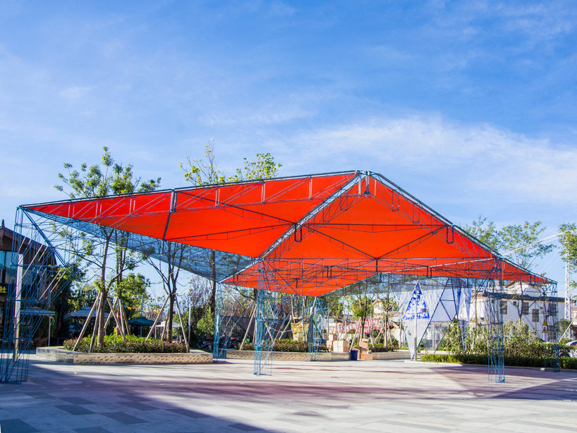 People S Architecture Office Develops Modular Tangram Canopy