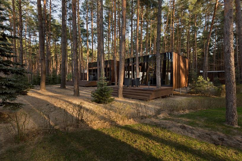 YOD design lab guest houses in relax park verholy ukraine designboom