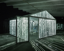 leigh sachwitz's installation INSIDEOUT invites users to experience a storm